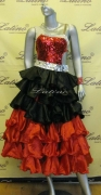 LATIN SALSA (BALLROOM) COMPETITION 2 IN 1 DRESS LDW (LT674)
