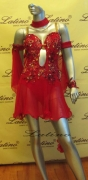 LATIN SALSA COMPETITION DRESS LDW (LT247B)