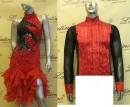 LATIN SALSA COMPETITION FOR COUPLE DRESS-SHIRT LDW (VL169B/B106C)