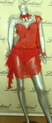 LATIN SALSA COMPETITION DRESS LDW (A370LT) only on sale on latinodancewears.com