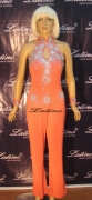 LATIN SALSA COMPETITION CATSUIT LDW (P23ST) only on sale on latinodancewears.com