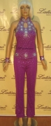 LATIN SALSA COMPETITION CATSUIT LDW (W23ST) only on sale on latinodancewears.com