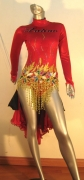 LATIN SALSA COMPETITION DRESS LDW (LT156)