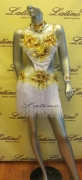 LATIN SALSA COMPETITION DRESS SIZE M LDW (LS55)