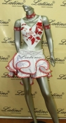 LATIN SALSA COMPETITION DRESS LDW (LT433) only on sale on latinodancewears.com