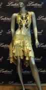 LATIN SALSA COMPETITION DRESS LDW SIZE M (LS105)