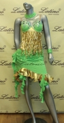 LATIN SALSA COMPETITION DRESS LDW SIZE M (LS111)