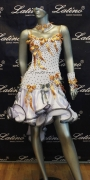 LATIN SALSA COMPETITION DRESS LDW SIZE M (LS115)