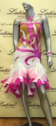 LATIN SALSA COMPETITION DRESS LDW SIZE M (LS141)