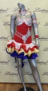LATIN SALSA COMPETITION DRESS LDW SIZE M (LS149)