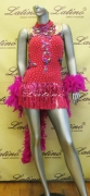 LATIN SALSA COMPETITION DRESS LDW SIZE M (LS175)