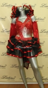 LATIN SALSA COMPETITION DRESS LDW (B41VL) only on sale on latinodancewears.com