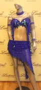 LATIN SALSA COMPETITION DRESS LDW SIZE M (LS191)