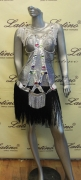 LATIN SALSA COMPETITION DRESS LDW SIZE M (LS192)