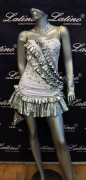 LATIN SALSA COMPETITION DRESS LDW SIZE M (LS193)