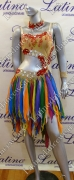 LATIN SALSA COMPETITION DRESS LDW SIZE M (LS197)