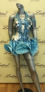 LATIN SALSA COMPETITION DRESS LDW SIZE M (VL273)