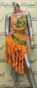 LATIN SALSA COMPETITION DRESS LDW SIZE M (VL333)