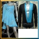 LATIN SALSA COMPETITION FOR COUPLE DRESS-SHIRT LDW (LT715/B83A)