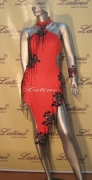 LATIN SALSA COMPETITION DRESS LDW (D124LT) only on sale on latinodancewears.com