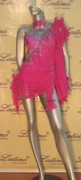LATIN SALSA COMPETITION DRESS LDW (M148LT) only on sale on latinodancewears.com