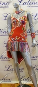 LATIN SALSA COMPETITION DRESS LDW SIZE M (LS201)