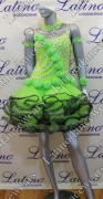 LATIN SALSA COMPETITION DRESS LDW SIZE M (LS206)