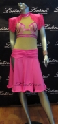 LATIN SALSA COMPETITION DRESS LDW SIZE M (LT551)
