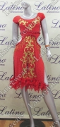 LATIN SALSA COMPETITION DRESS LDW SIZE M (VL420)