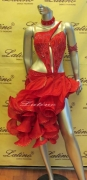 LATIN SALSA COMPETITION DRESS LDW (LT500A) only on sale on latinodancewears.com
