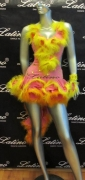 LATIN SALSA COMPETITION DRESS LDW (LS50) only on sale on latinodancewears.com