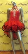 LATIN SALSA COMPETITION DRESS LDW (LT555) only on sale on latinodancewears.com