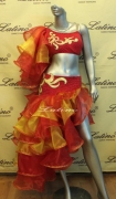 LATIN SALSA COMPETITION DRESS LDW (VL218) only on sale on latinodancewears.com