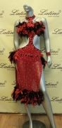 LATIN SALSA COMPETITION DRESS LDW (LS92) only on sale on latinodancewears.com