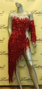 LATIN SALSA COMPETITION DRESS LDW (LS101) only on sale on latinodancewears.com
