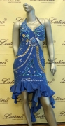 LATIN SALSA COMPETITION DRESS LDW (LS66A) only on sale on latinodancewears.com