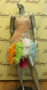 LATIN SALSA COMPETITION DRESS LDW (LS126) only on sale on latinodancewears.com