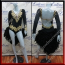 LATIN SALSA COMPETITION DRESS LDW SIZE M (VL521)