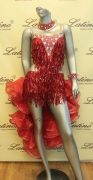 LATIN SALSA COMPETITION DRESS LDW (LS162) only on sale on latinodancewears.com