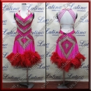 LATIN SALSA COMPETITION DRESS LDW SIZE M (LS397)